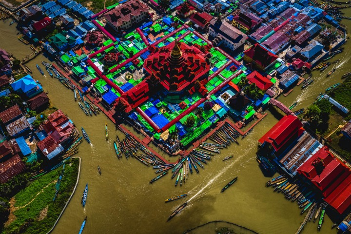 Aerial Photography, Asia, Burma, Inle Lake, Myanmar, Travel