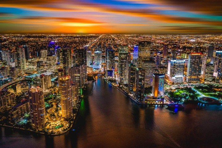 Aerial Photography, AGP Favorite, Brickell, Downtown, Florida, Miami, North America, Skyline, Sunset, Travel, United States