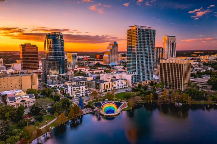 AGP, AGP Favorite, Aerial Photography, Alex G Perez, Architecture, Downtown, Drone, Florida, Lake Eola, North America, Orlando, Skyline, Sunset, Travel, United States, Urban, www.AGPfoto.com