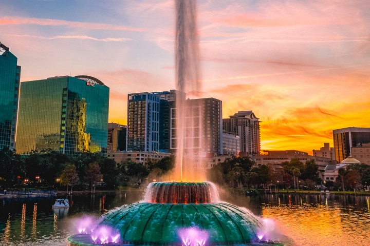 AGP, AGP Favorite, Aerial Photography, Alex G Perez, Downtown, Drone, Florida, Lake Eola, North America, Orlando, Reflections, Skyline, Sunset, Travel, United States, Urban, www.AGPfoto.com