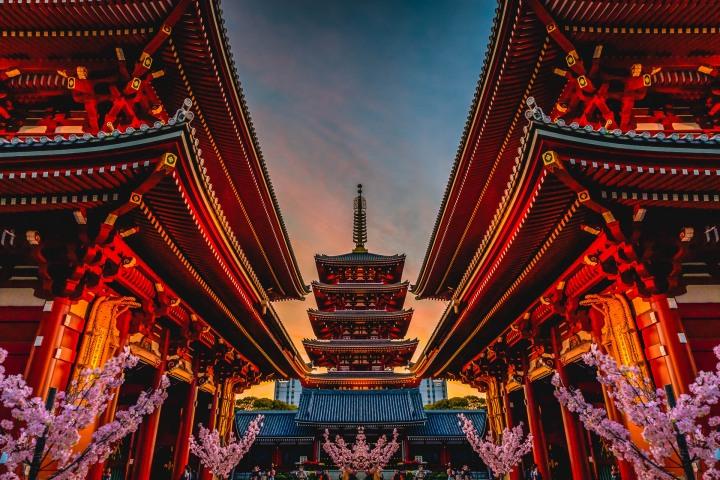 AGP, AGP Favorite, Alex G Perez, Architecture, Asia, Japan, Sensō-ji, Sunset, Tokyo, Travel, www.AGPfoto.com