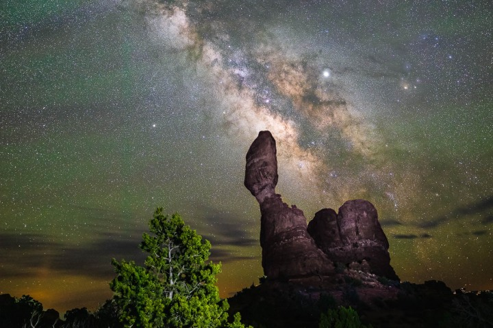 AGP, AGP Favorite, Alex G Perez, Arches National Park, Astrophotography, Balanced Rock, Landscape Photography, Long Exposure, Milky Way Photography, Moab, North America, Stars, Travel, United States, Utah, www.AGPfoto.com