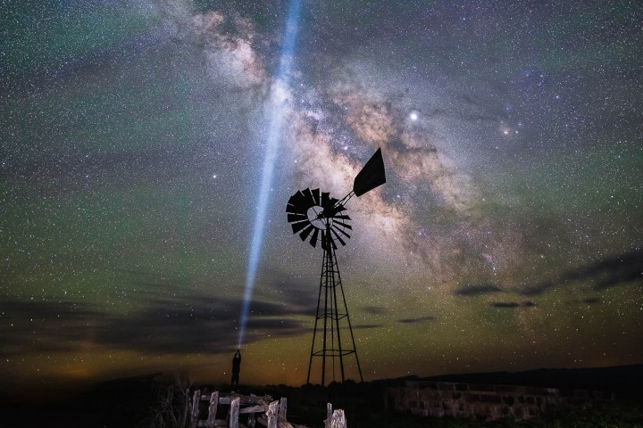 AGP, AGP Favorite, Alex G Perez, Astrophotography, Landscape Photography, Long Exposure, Milky Way Photography, Moab, North America, Stars, Travel, United States, Utah, Windmill, www.AGPfoto.com