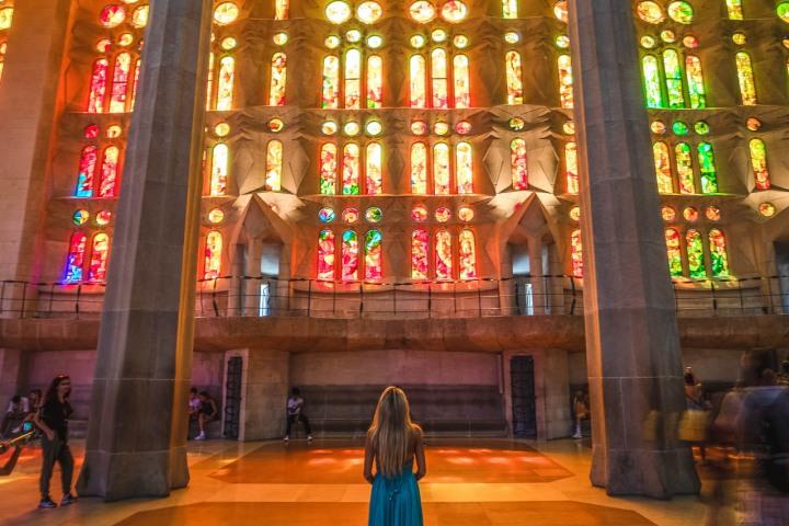 AGP, AGP Favorite, Alex G Perez, Architecture, Barcelona, Cathedral, Europe, La Sagrada Familia, Spain, Stained Glass, Travel, www.AGPfoto.com