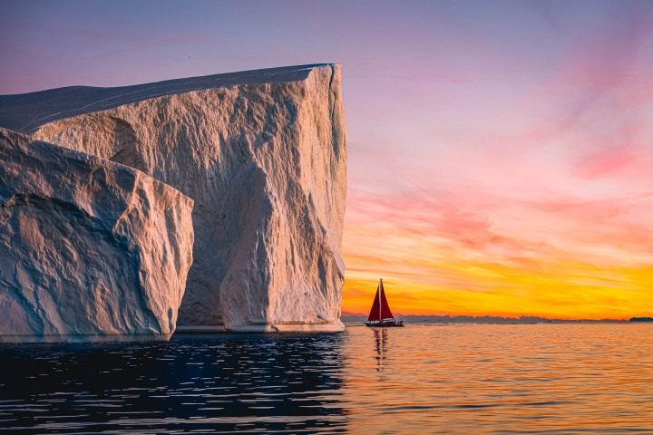 AGP, AGP Favorite, Alex G Perez, Arctic Circle, Greenland, Ice, Iceberg, Ilulissat, Landscape Photography, North America, Reflections, Sail Boat, Sunset, Travel, www.AGPfoto.com