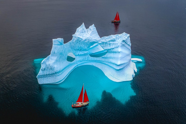 AGP, AGP Favorite, Aerial Photography, Alex G Perez, Arctic Circle, Drone, Greenland, Ice, Iceberg, Ilulissat, Landscape Photography, North America, Sail Boat, Travel, www.AGPfoto.com
