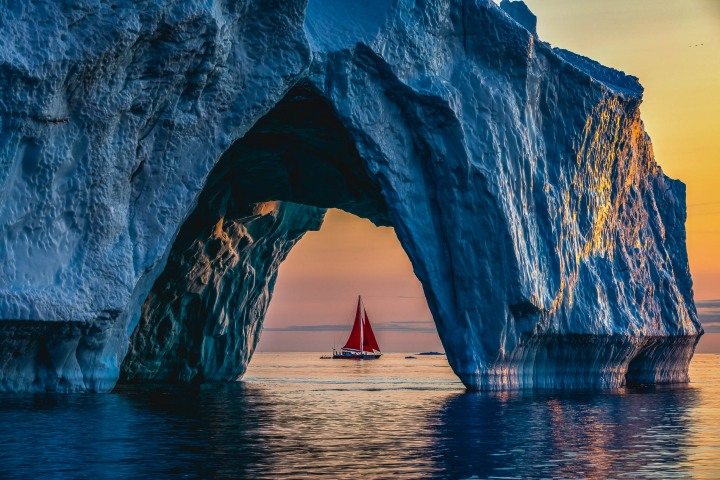 AGP, AGP Favorite, Alex G Perez, Arctic Circle, Greenland, Ice, Iceberg, Ilulissat, Landscape Photography, North America, Sail Boat, Sunset, Travel, www.AGPfoto.com