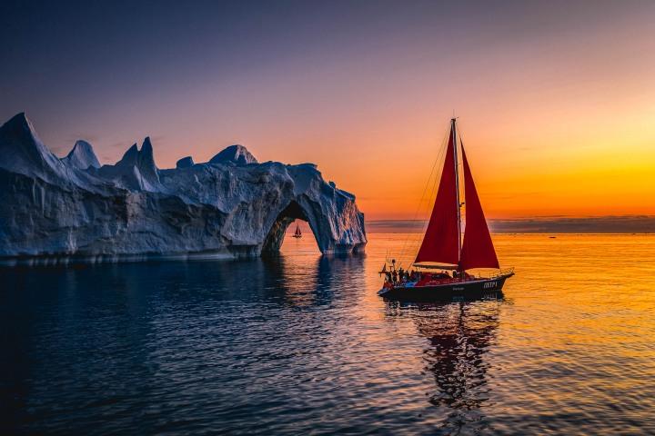 AGP, AGP Favorite, Aerial Photography, Alex G Perez, Arctic Circle, Drone, Greenland, Ice, Iceberg, Ilulissat, Landscape Photography, North America, Reflections, Sail Boat, Sunset, Travel, www.AGPfoto.com