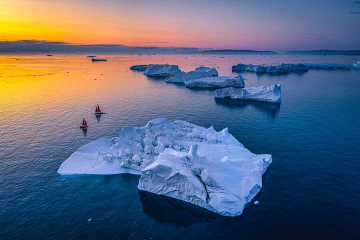 AGP, AGP Favorite, Aerial Photography, Alex G Perez, Arctic Circle, Drone, Greenland, Ice, Iceberg, Ilulissat, Landscape Photography, North America, Sail Boat, Sunset, Travel, www.AGPfoto.com