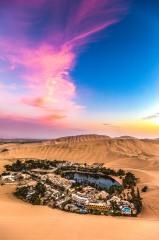 Desert, Huacachina, Ica, Laguna Huacachina, Peru, Sand dunes, South America, Sunset, Travel